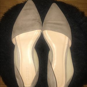 J crew) suede flat shoes ✨